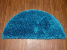 HALF MOON SHAGGY RUGS 60CMX120CM WOVEN GOOD QUALITY NEW SUPER THICK TEAL/BLUE